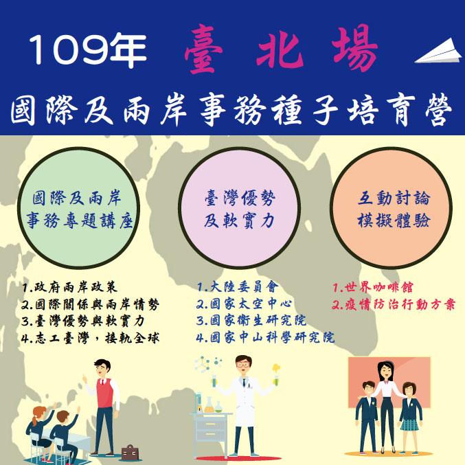 台北場-109年國際及兩岸事務種子培育營(已額滿)